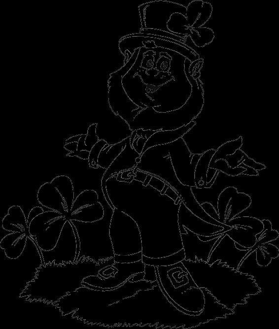 online leprechaun coloring pages - photo#21