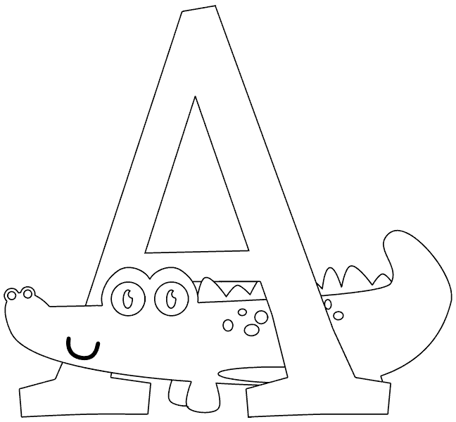 A is for alligator coloring pages ~ A is for Alligator coloring page - coloring.com