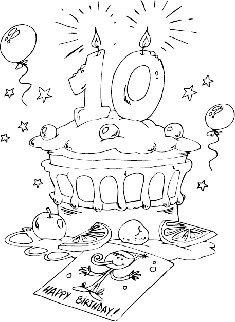 Birthday cake age 10