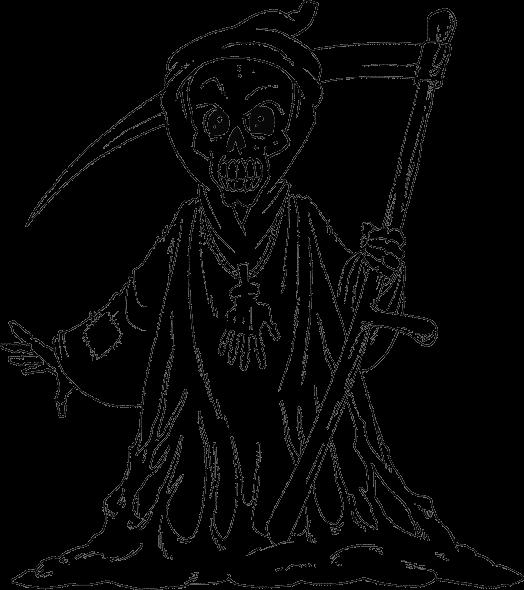 grim reaper coloring page - coloring.com