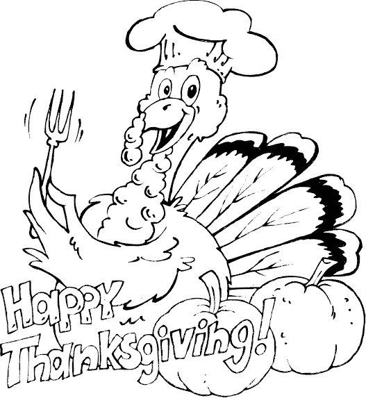 Turkey Feast Coloring Pages