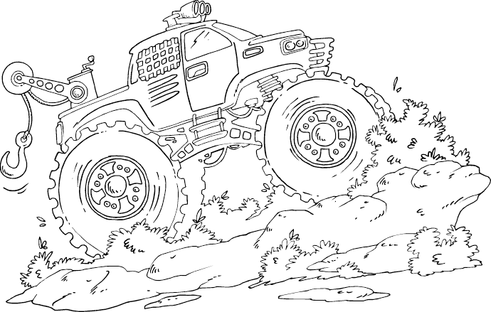 monster tow truck coloring page - coloring.com
