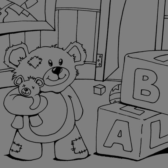 Nursery Teddy Bear Coloring Page Coloring Com