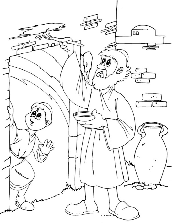 Passover Marking Door Coloring Page Coloring Com