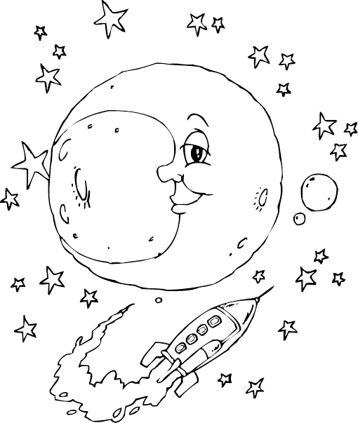 man moon coloring pages - photo#21