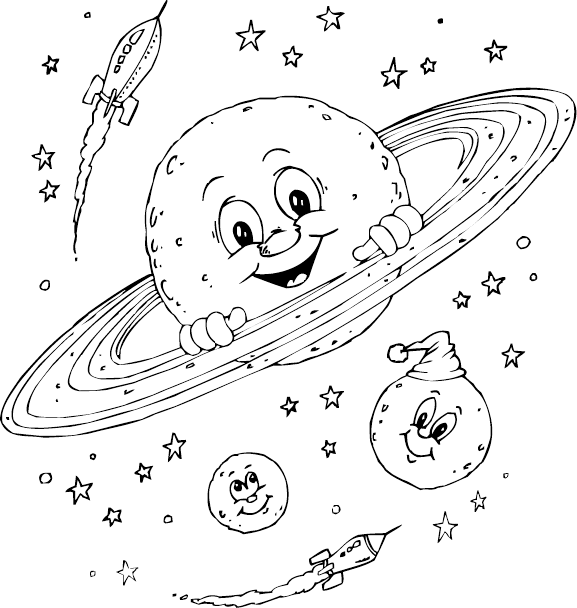 planet saturn coloring page coloringcom