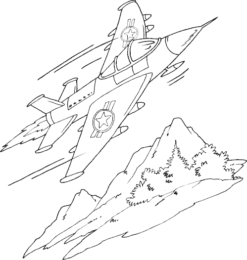 fighter jet coloring page  Coloring Pages