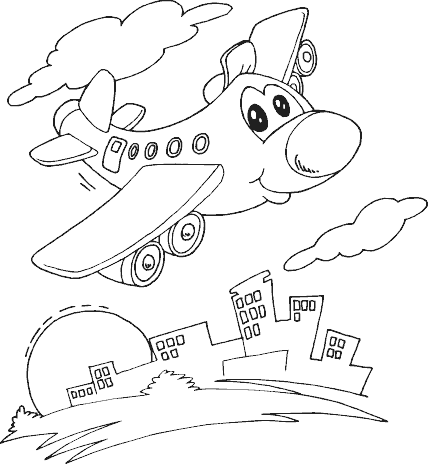 Plane Coloring Page #4