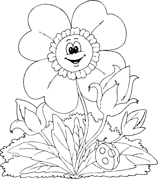 spring flower coloring page coloringcom - Coloring Com