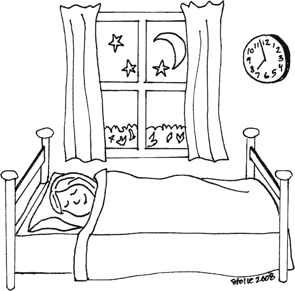 Sleeping coloring page for Nina needs to go coloring pages