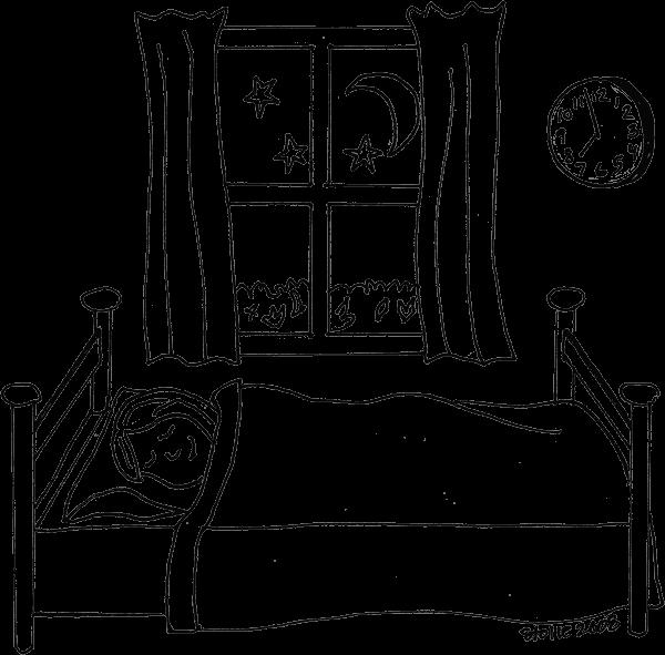 Sleeping coloring page for Dormitorio para colorear
