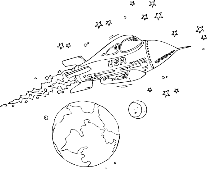 Dinarantant: Coloring Pages Rockets